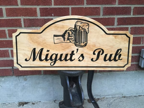 Bar or Game Room Personalized Wooden Sign