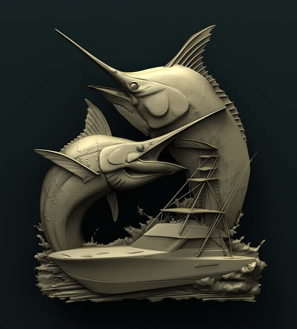 0397. Fish Marlins