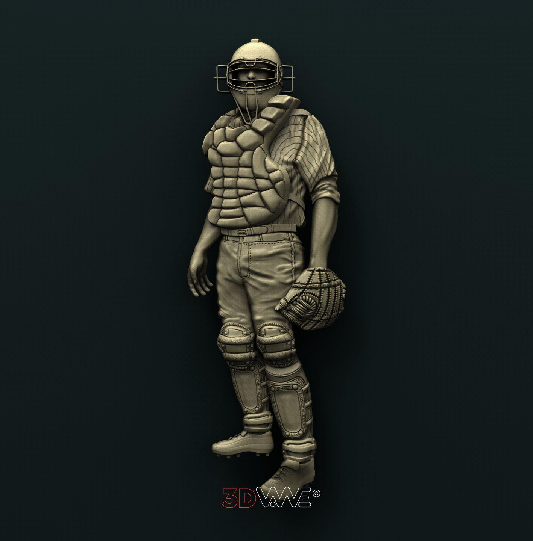 0734 Baseball Catcher