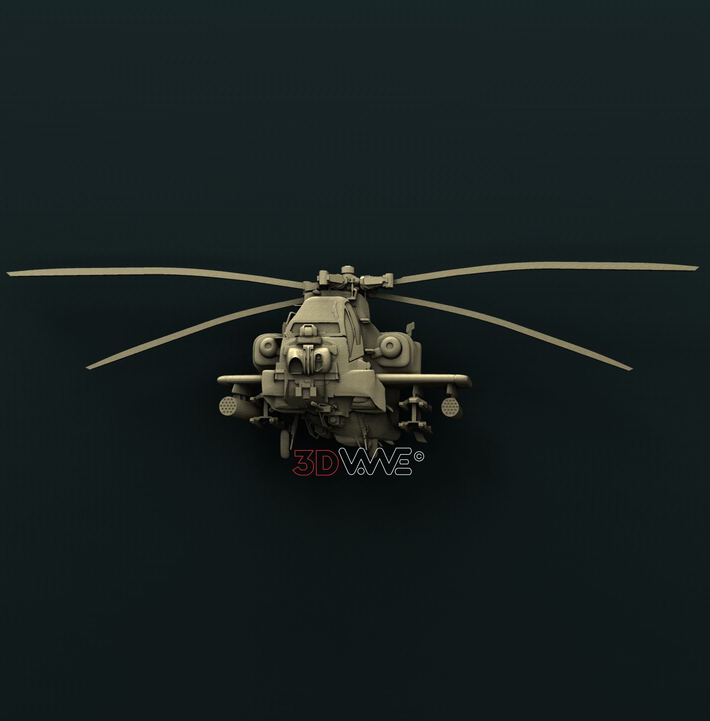 0889 Apache Helicopter