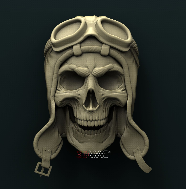 0892 Biker's Skull