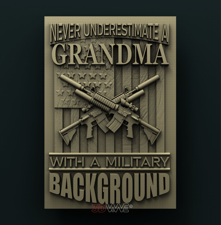 0916 Grandma Military