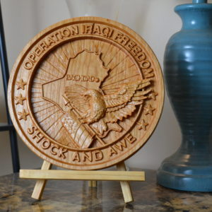 Operation Iraqi Freedom Wooden Plaque/Sign, OIF, Shock and Awe
